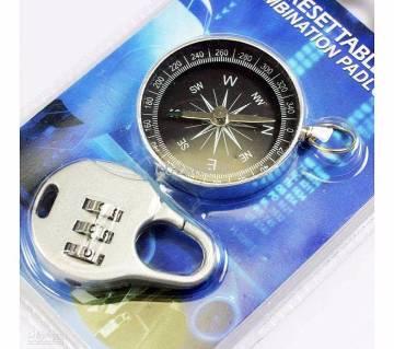 Resettable Padlock & Compass