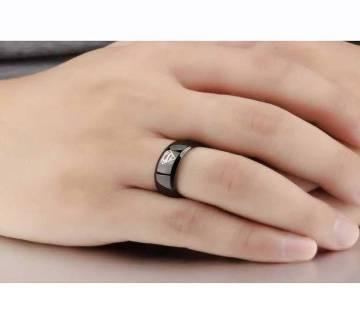 Black Alloy Finger Ring