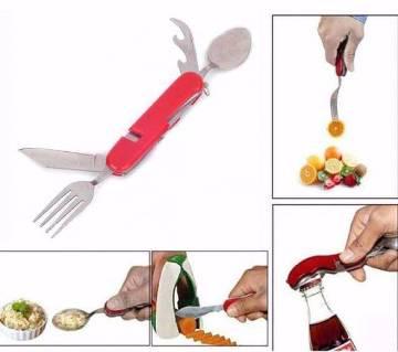 4 in 1 multi tool fork spoon (1pc)