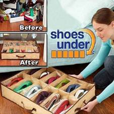 Space Saving Shoe Rack - Brown