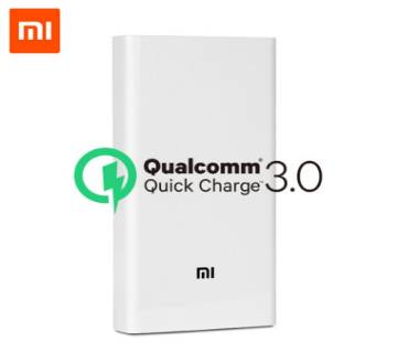 Xiaomi 20000mAh Power Bank 2USB Fast Charging Support QC 3.0-White Bangladesh - 8733201