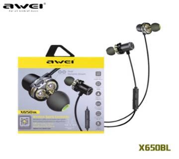 AWEI X650BL Bluetooth Earphone Wireless Headphone Neckband Headset Earpiece