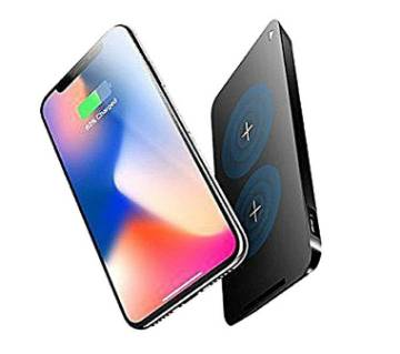 ROCK-W8 - Dual Coil Qi Wireless Charger For iPhone X - Black
