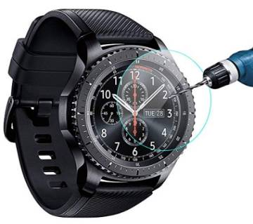 Tempered Glass Screen Protector for Samsung Gear S3 Smartwatch - Transparent