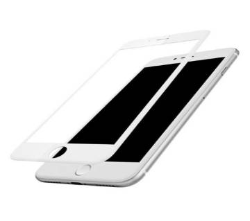 3D Full Cover Tempered Glass Screen protector for iPhone 7 Plus - White