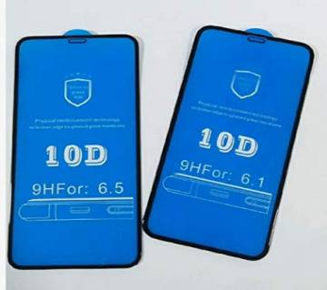 10D Full Cover Tempered Glass Screen protector for iPhone x - Black