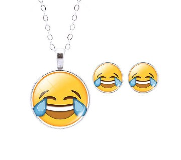 LOL Smile Emoticon Earring with Pendant