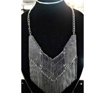 Multi Layer Silver Plated Necklace