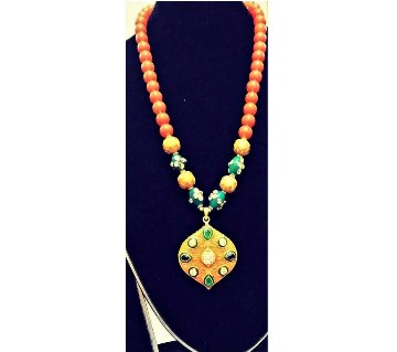 Bead and Stone Setting Necklace Set