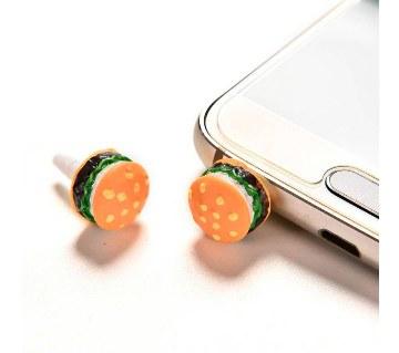 Hamburger Anti Dust Mobile Phone pin