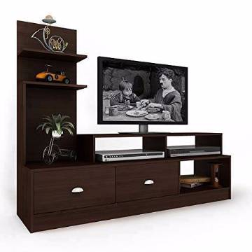 LCD/LED TV Wooden Stand Trolley with shelf