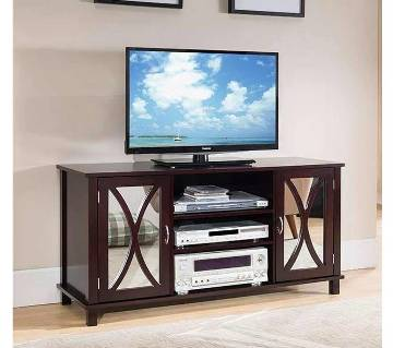 wooden LED TV Stand with Shelf