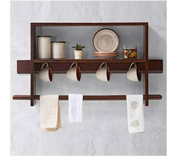 Wooden Wall Hanging Kitchen Shelf