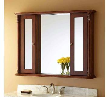 Wooden Wall Hanging Mirror Cabinet