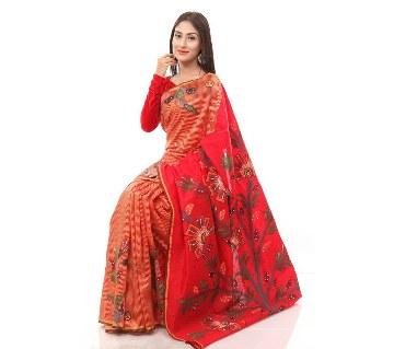 Hand Printed Silk Sharee