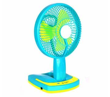 rechargeable table fan with light