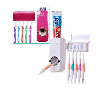 Toothpaste Dispenser with Toothbrush