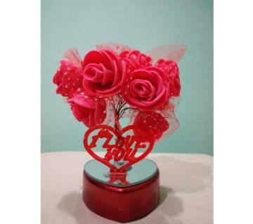 Lighting flowers for valentine gift