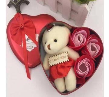 Sweet Love Aluminium Valentine Gift Box Set-Red