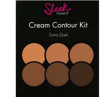 Sleek cream contour kit extra dark make up palette