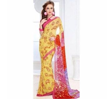 Sushma Indian Georgette Sharee