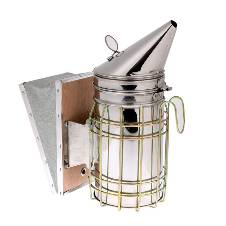 Stainless Steel Bee Keeping Smoker Bee Hive Smoker Transmitter With Heat Shield Protection Beekeeping Equipment tool