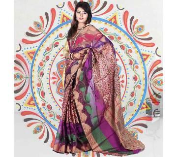 Pure Soft Jamdani Silk Saree