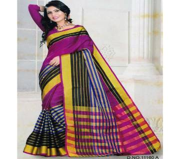 Indian Woven Art Silk Saree in Violet