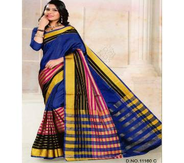 Indian Woven Art Silk Saree in Blue