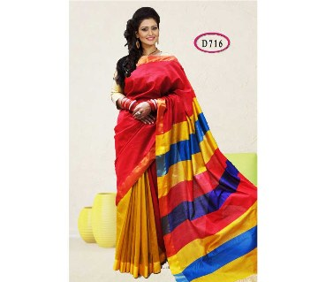 Colorful soft half silk sharee