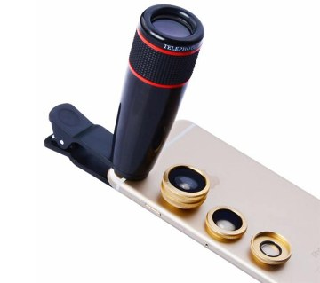 4 in 1 universal clip lens