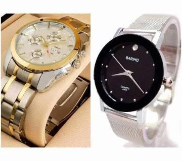 Tissot gents+Bariho ladies wrist watch combo