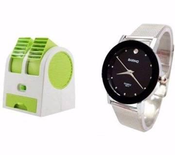 Air cooler+Bariho gents wrist watch combo offer