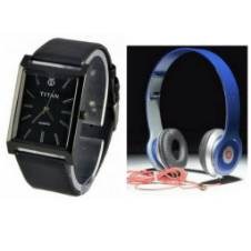 Beats Solo HD Wired Headphones (copy) + TITAN Gents Watch (copy) combo offer