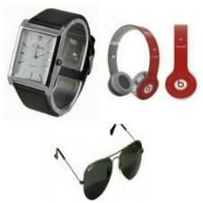 Beats Solo HD Wired Headphones (copy) + TITAN Gents Watch (copy) + Ray ban Sunglasses (copy) combo offer