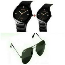 2 Piece RADO Couple Watch (Copy) and Ray Ban Sunglasses (Copy) Combo Offer