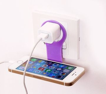 Cell Phone Wall Charger Hanger