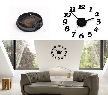 Big Size 3D Wall Clock