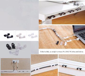 Wire Cable Management Organizer Desktop & Workstation Clips