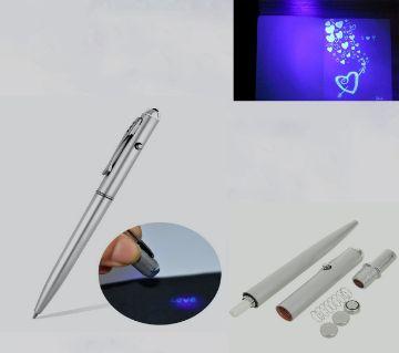 Invisible Ink Pen With Uv Light Magic Secret Ballpoint