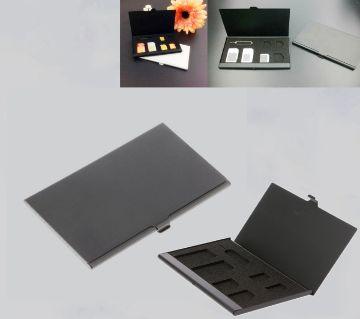 Aluminum Alloy 1 Card Pin + 6 SIM Card Holder Protector Storage Box Case
