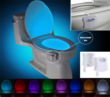 Toilet Seat Night Light 8 Colors Waterproof Backlight