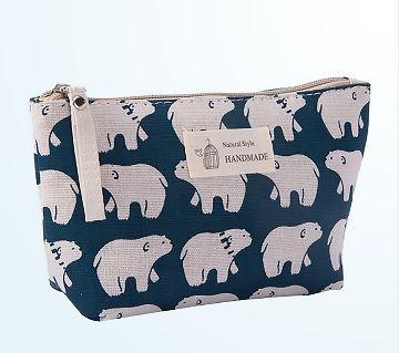 Women Plaid Travel Cosmetic Bag