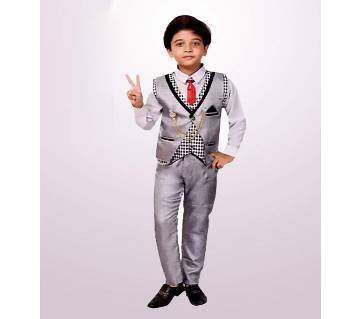 Boys Casual, Festive & Shirt, Waistcoat, Tie And Pant Set