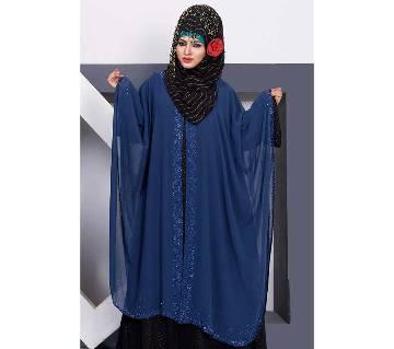 Silk Double Georgette Sky-blue abaya