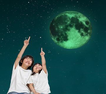 3D Moon Wall Stickers for Kids Rooms Decor