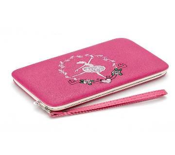 লেডিজ এক্সক্লুসিভ ইম্পোর্টেড কার্ড ফোন অ্যান্ড মানি হোল্ডার (Pink)