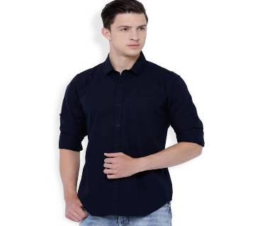 Mens navy blue casual shirt