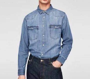 Gents full sleeve casual denim shirt