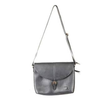 Ladies Black Leather Side Bag